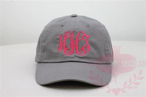 Handmade Baseball Caps - monogram baseball cap custom color hat and