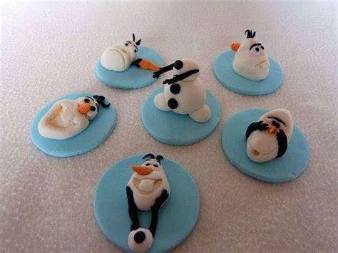 frozen inspired fondant cupcake toppers carlos s frozen birthday disney disney