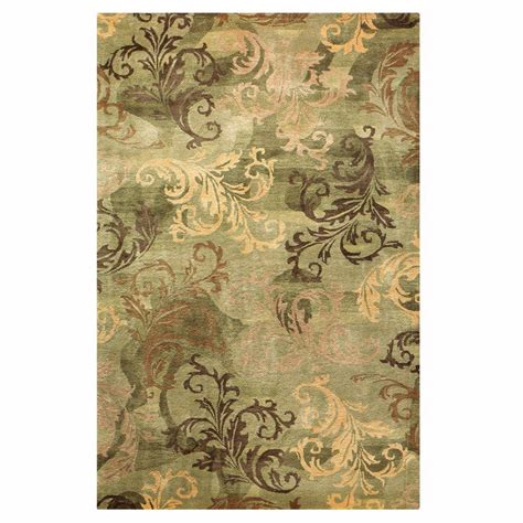 green accent rug home decorators collection symphony sage green 3 ft 6 in