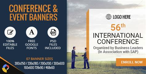 conference banner template gwd conference events html5 banners 07 sizes by
