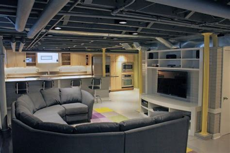 Basement Finishing Ideas Low Ceiling Top 60 Best Basement Ceiling Ideas Downstairs Finishing Designs