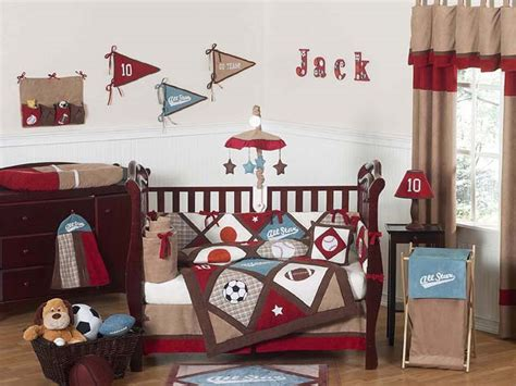 sports theme nursery all star sports 9pc crib bedding collection