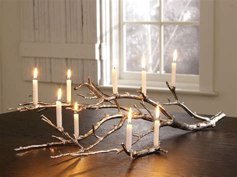 Candle Home Decor Tree Branch With Lights Interior Design Ideas