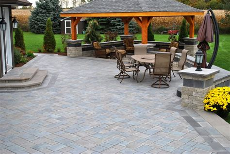 large paver patio paver patio whitby on photo gallery landscaping network