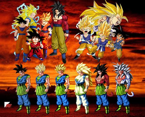 all ve as forms and transformations imagenes de vegeta goku all transformations marbal