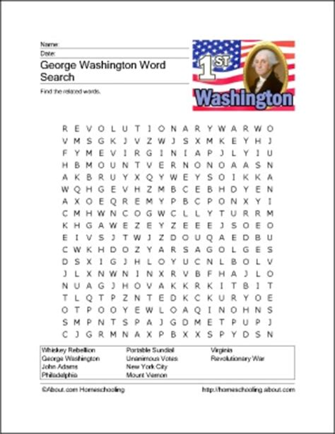 search results for free george washington worksheets george washington word search pinterest