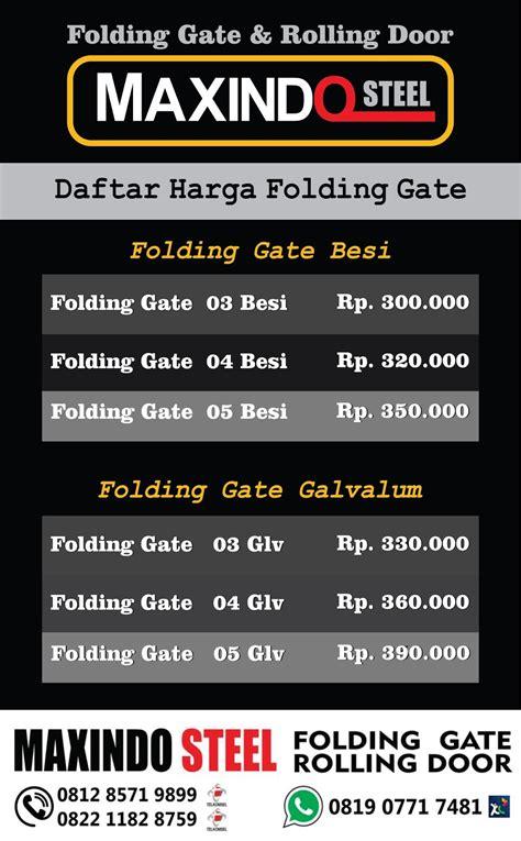 Multimeter Murah daftar harga folding gate per meter murah bekasi