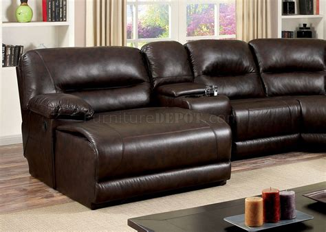 sofa upholstery glasgow glasgow motion sectional sofa cm6822br in brown leatherette