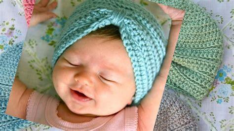tutorial buat turban baby crochet baby turban pattern tutorial youtube