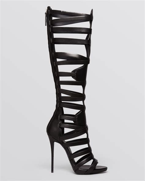 knee high sandals heels giuseppe zanotti platform sandals coline knee high