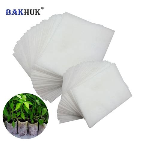 Planter Bag 200 Liter T1310 4 bakhuk 200pcs white biodegradable non woven nursery bags plant grow bags plants fabric seedling