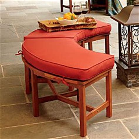 Curved Pit Bench Cushions patio bench cushions great price curved pit bench improvements