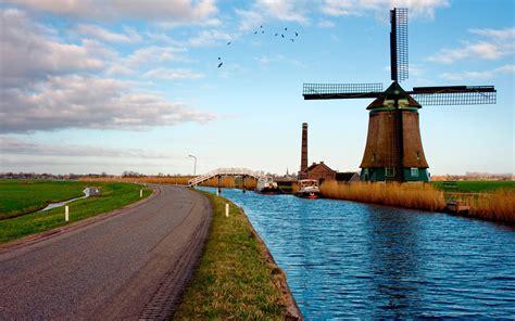 Netherland Search Netherlands Landscape River Road Landscape Netherlands Wallpaper Hd Widescreen