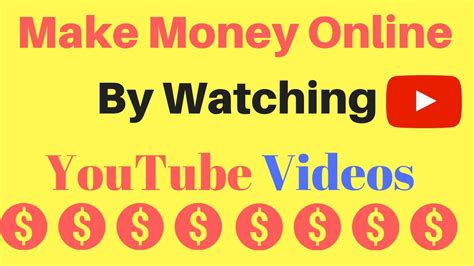 Make Money Online By Watching Videos - how to make money online by watching youtube videos get paid easy