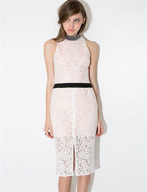 Lace Midi Cocktail Dress lace beaded midi dress white lace cocktail dress