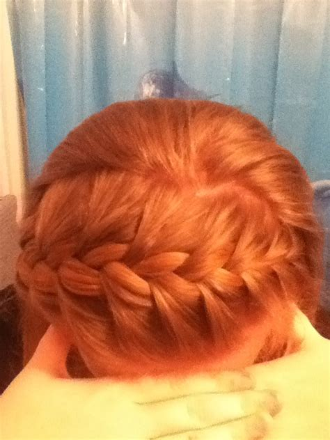 braid across side of head french braid across the top of head people not just a