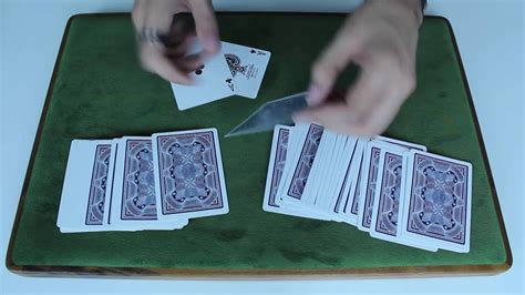 tutorial carding for newbie beginner card trick simple sandwich trick tutorial