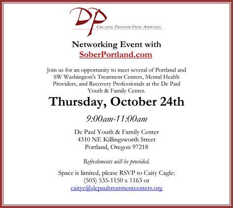 Depaul Detox Portland Oregon by Networking Event Soberportland