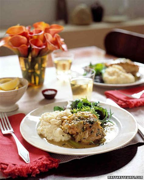 elegant dinner party menu ideas chicken tarragon menu martha stewart living cozy and