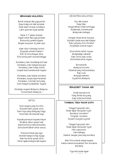 lagu merdeka malaysia 2014 lirik lagu patriotik