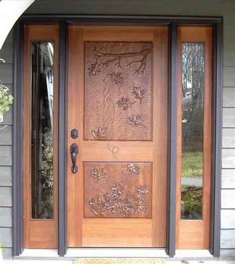 Wood Front Door Designs Carved Wood Front Door Design Inspiration Interior Home Decor