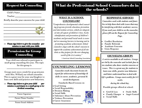 High School Counseling Brochure Renanlopes Me School Counseling Brochure Template