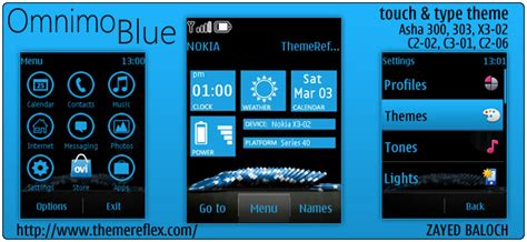 nokia c2 blue themes omnimo blue theme for nokia asha 303 300 c2 06 and touch