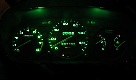 green led dash lights honda civic ex 1996 2000 bright green led asap speedo