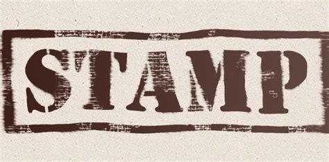 Stempel Huruf Besar teks dengan efek stempel karet klasik grafisia