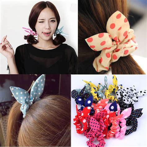 Rabbit Ear Shape Hair Tie m i l k 183 t e a s