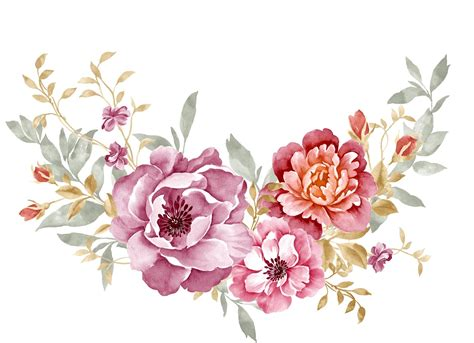 design a flower watercolour bouquet of various flower blisse design studio