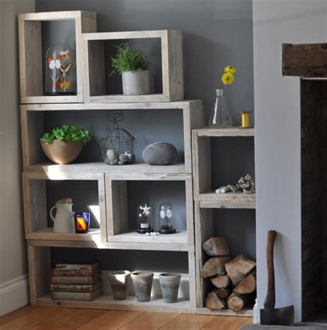 home shelving reclaimed wood vintage box shelves mad about the house