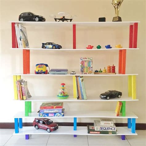 45 minute flat pack rainbow bookshelf