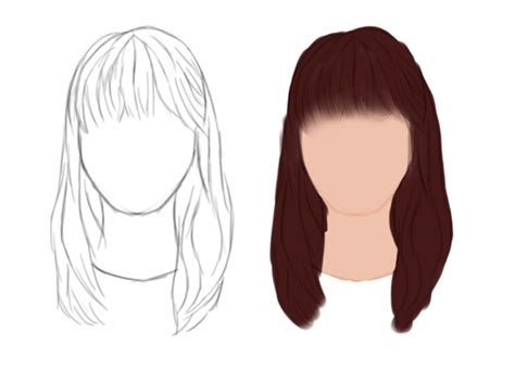how to draw bangs an introduction to painting realistic hair in adobe photoshop