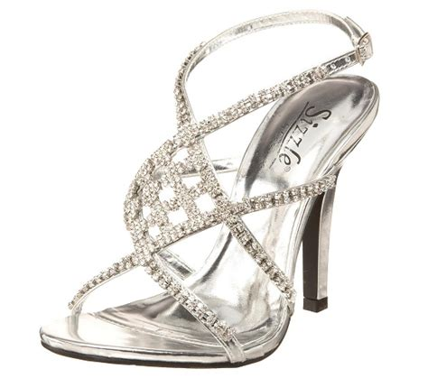 cheap silver rhinestone prom shoes 50 dollars