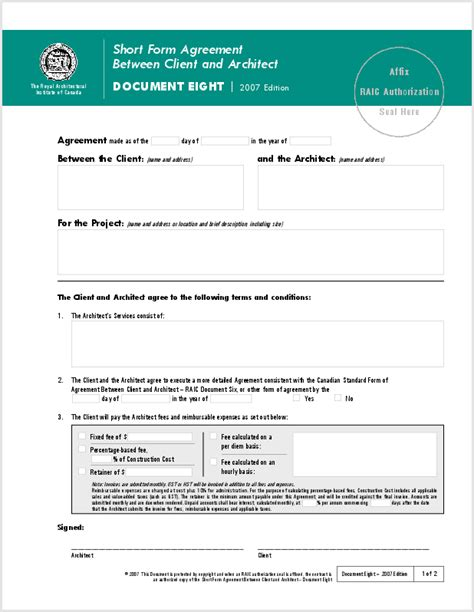 client service agreement template 9 best images of client service agreement template free