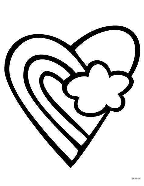 rainbow hearts coloring pages free coloring pages of rainbow peace sign