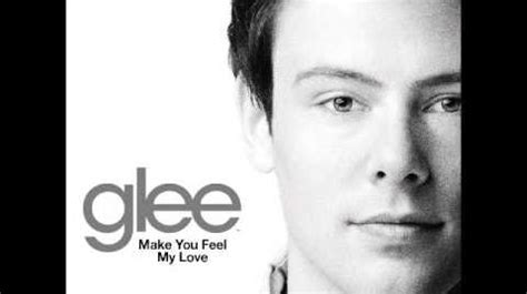 download mp3 make you feel my love glee video glee make you feel my love download lyrics