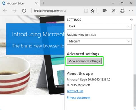 how to disable flash in windows 10's edge browser