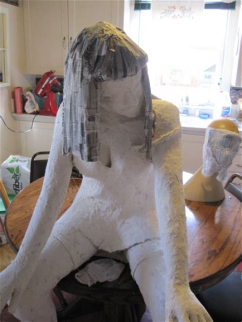 How To Make Paper Mache Sculptures - guest post an armature for a paper mache figure