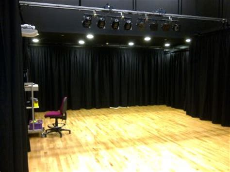 curtains  mirrors theatre  stage