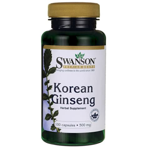 Dijamin Nature S Health Korean Ginseng 500mg 100 Capsules swanson premium korean ginseng 500 mg 100 caps swanson health products