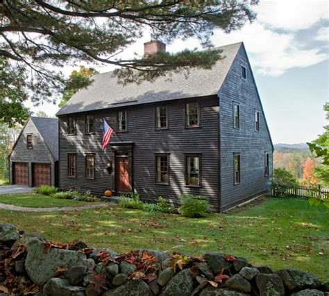 New England Saltbox House | life in a reproduction saltbox old house online old