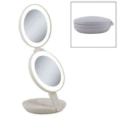 Zadro Lighted Makeup Mirror by Zadro Ledt01 3 5 In Duel Led Lighted Travel Mirror The Mine