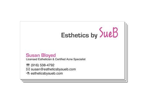 Esthetician Business Cards Sle Gallery Card Design And Card Template Esthetician Business Plan Template