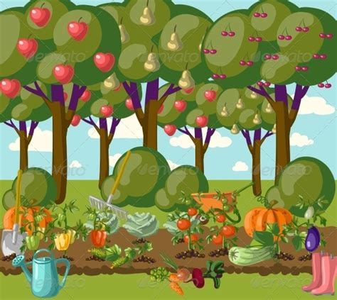 Cartoon Garden Background » Tinkytyler.org   Stock Photos