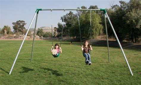 swing set height standard 8 ft high residential swing sets
