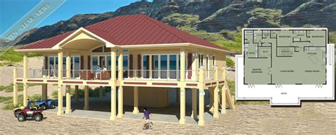 beach house plans on piers beach house plans by beach cat homes