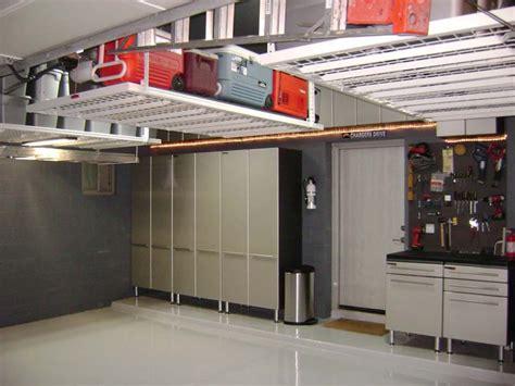 Overhead Garage by Interior Diy Overhead Garage Storage Shelf For Containers