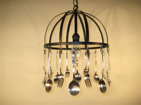 silverware chandelier silverware chandelier chandeliers by etsy